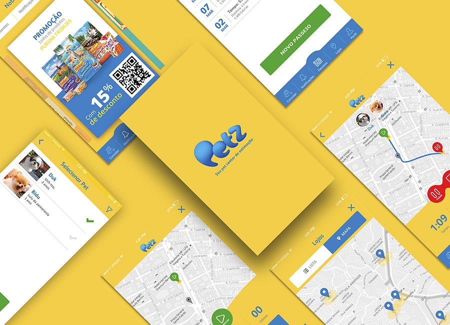 Petz aplicativo de institucional e ecommerce lene studio